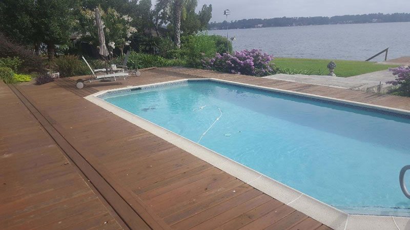 Silca System / Stonedeks Pool Side Elevated Deck - Before