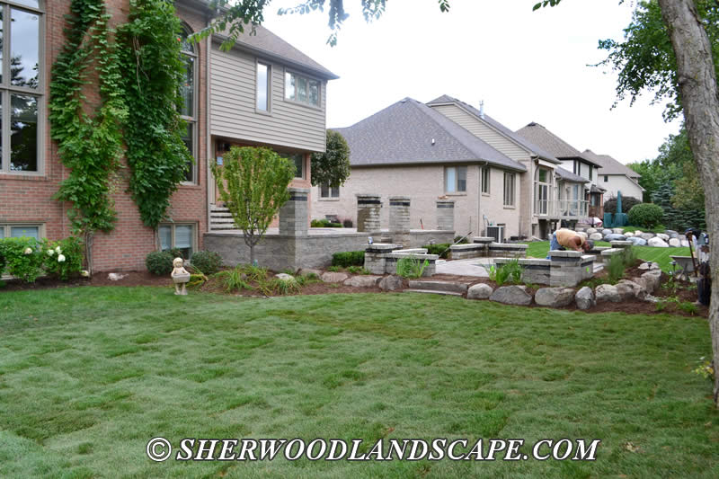 Shelby township backyard restoration landscape design for Landscape design michigan
