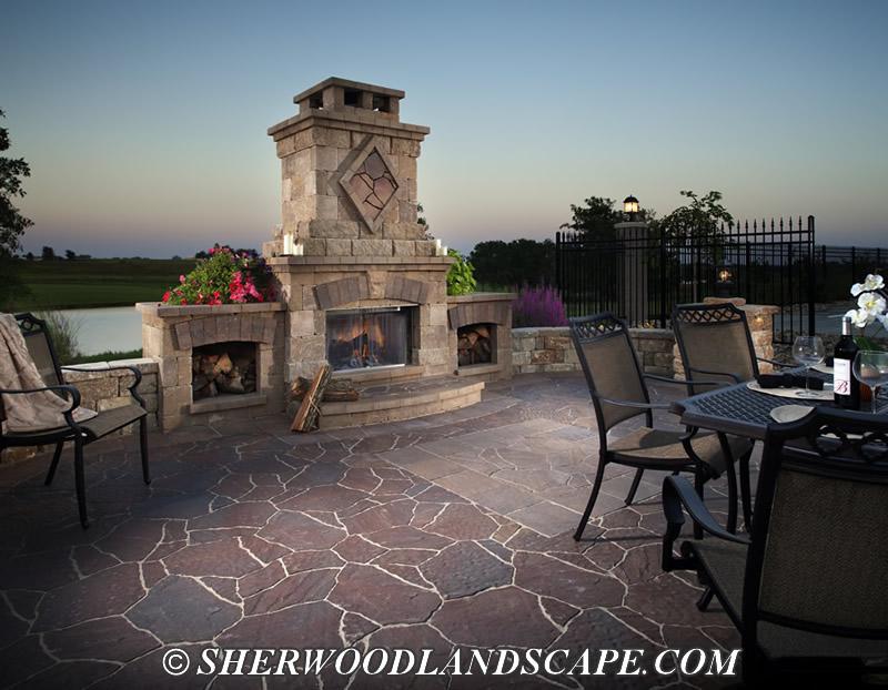 Custom Outdoor FireplaceOutdoor Kitchens and Fireplaces. Large Outdoor Fireplace. Home Design Ideas