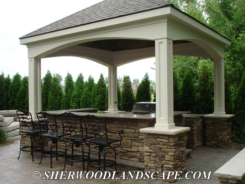 Outdoor Kitchens With Fireplace