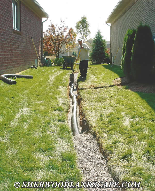 Download installing outside french drains free filecloudjd for Outside drainage system