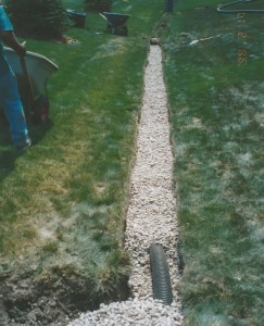 Piping with the Round Gravel for Drainage