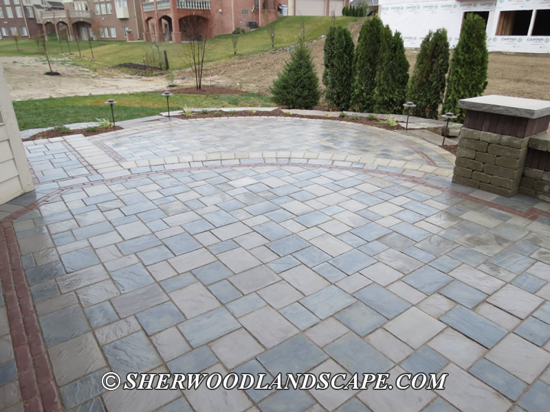 brick paver patio macomb county landascaping