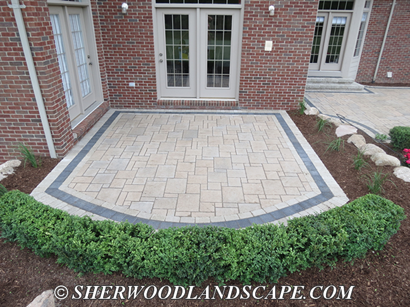 Unilock Patios built with Unilock Avante Ashlar bordered with Unilock Series 3000
