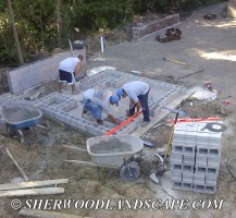 Outdoor Kitchen Under Construction 2