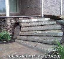 Natural Stone Steps Finished 2
