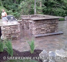 Brickpaving and Outdoor Kitchen Under Construction