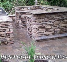 Brickpaving and Outdoor Kitchen Under Construction 2