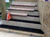 Above Ground Stone Deck - Install