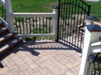 Above Ground Stone Deck - After