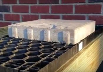 Elevated Concrete Brick Paver Deck - Oakland Twp., MI
