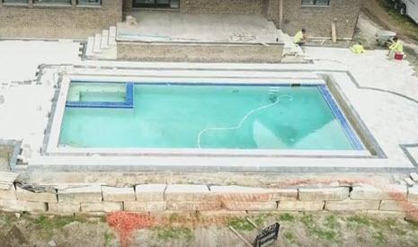 Macomb County Brick Paver Pool Yard